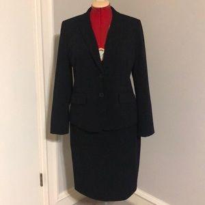 Liz Claiborne black skirt suit